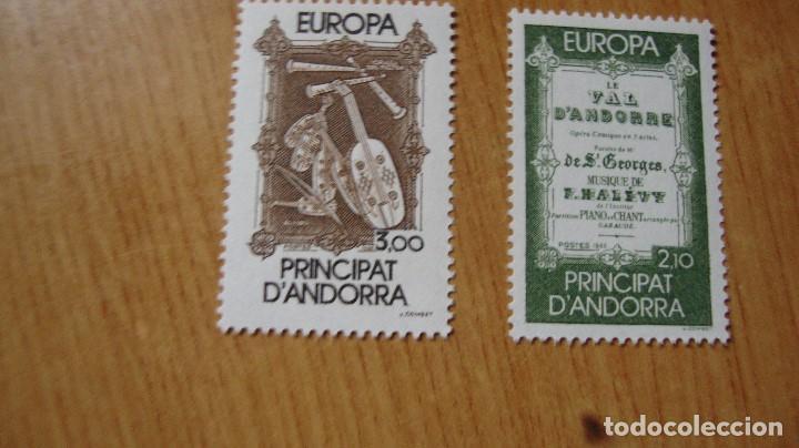 ANDORRA FRANCESA YVERT 389/40 TEMA EUROPA NUEVOS PERFECTOS (Sellos - Extranjero - Europa - Andorra)