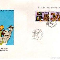 Sellos: BARCELONA SEDE OLÍMPICA 1992.-1987. Lote 114176227