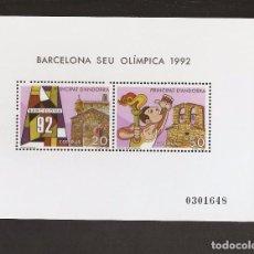 Sellos: ANDORRA 1987, ANFIL BARCELONA SEDE OLIMPICA 92. LA DE LA FOTO. Lote 114685367