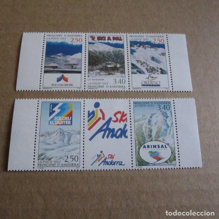 ANDORRA 1993, Nº 426A Y 429 A, NUEVO, ESTACIONES DE ESQUI ANDORRA. (Sellos - Extranjero - Europa - Andorra)