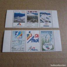 Sellos: ANDORRA 1993, Nº 426A Y 429 A, NUEVO, ESTACIONES DE ESQUI ANDORRA.. Lote 262148440