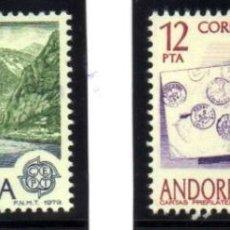 Sellos: ANDORRA.- YVERT Nº 116/117, SERIE COMPLETA EN NUEVO. Lote 117220707