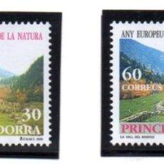Sellos: ANDORRA.- CATÁLOGO YVERT 241/42, SERIE COMPLETA EN NUEVO. Lote 117347851