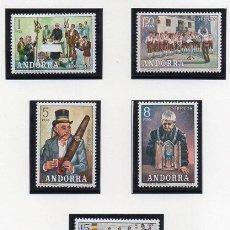 Sellos: ANDORRA.- CATÁLOGO EDIFIL Nº 80/84, SERIE COMPLETA EN NUEVO. Lote 117360699