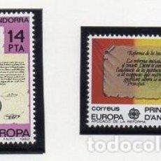 Sellos: ANDORRA.- CATÁLOGO EDIFIL Nº 157/58, SERIE COMPLETA EN NUEVO. Lote 117360767
