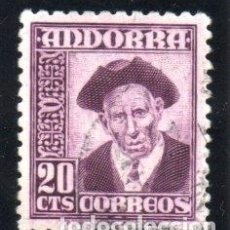 Sellos: ANDORRA.- CATÁLOGO EDIFIL Nº 48, EN USADO. Lote 117361647