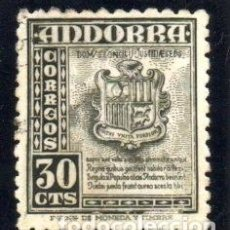 Sellos: ANDORRA.- CATÁLOGO EDIFIL Nº 50, EN USADO. Lote 117362103