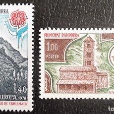 Sellos: ANDORRA FRANCESA. 269/70 EUROPA-CEPT: MONUMENTOS. 1978. SELLOS NUEVOS Y NUMERACIÓN YVERT.. Lote 161323181