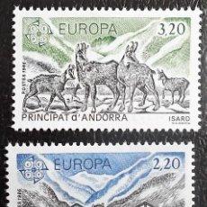 Sellos: ANDORRA FRANCESA. 348/49 EUROPA-CEPT: PROTECCIÓN DE LA NATURALEZA. 1986. SELLOS NUEVOS Y NUMERACIÓN. Lote 288587533