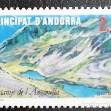 Sellos: ANDORRA FRANCESA. 351 TURISMO: LAGO DE ANGONELLA. 1986. SELLOS NUEVOS Y NUMERACIÓN YVERT.. Lote 277165358