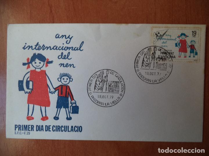 SOBRE. PRIMER DIA DE CIRCULACION. 1979. ANDORRA LA VELLA. (Sellos - Extranjero - Europa - Andorra)