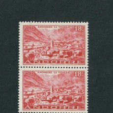 Sellos: ANDORRE 1948 SERVICIO POSTAL FRANCES Y&T 134 NUEVO EN BLOQUE DE 2. Lote 131555706