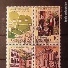 Sellos: ANDORRA 1978 - ANIVERSARIO DEL CORREO ESPAÑOL - EDIFIL 112-113-114-115. MATASELLO PRIMER DÍA.. Lote 82020916