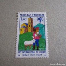 Sellos: ANDORRA 1979, ANFIL Nº 279**, AÑO INTERNACIONAL DEL NIÑO. Lote 136119066