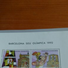 Sellos: BARCELONA SEU OLÍMPICA 1992, ANDORRA. Lote 136261433