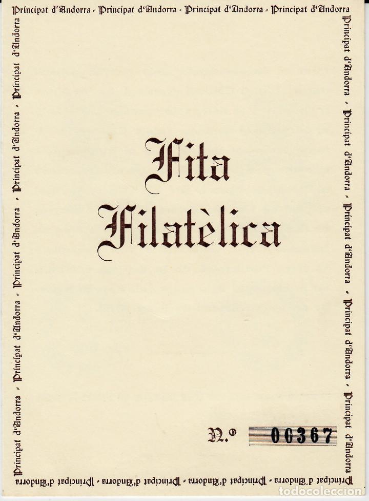ANDORRA - DOCUMENTO FILATÉLICO 1978-1979 FITA FILATÉLICA VER DESCRIPCIÓN (Sellos - Extranjero - Europa - Andorra)