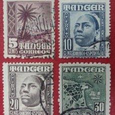 Sellos: TÁNGER. TIPOS INDÍGENAS,1948-51. 4 VALORES SUELTOS (N.º 153-154-155 Y 157 EDIFIL).. Lote 139992686