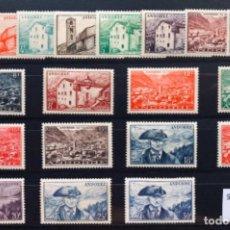 Sellos: ANDORRA FRANCESA SELLOS NUEVOS C/ FIJASELLOS 1948/1951* ED122/140, YV 119/137. Lote 141788986
