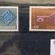 Sellos: ANDORRA FRANCESA SELLOS NUEVOS C/ FIJASELLOS 1968* ED 208/209, YV 188/189. Lote 141789126