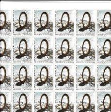 Sellos: ANDORRA - PLIEGO DE 30 SELLOS MAURO STACCIOLI -ORDINO ARCALIS -1991 NUM.423 VALOR CATAL. 95 E.. Lote 142298086