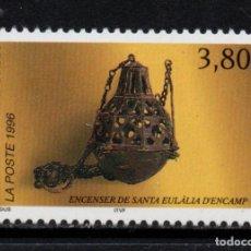 Sellos: ANDORRA 475** - AÑO 1996 - INCENSARIO DE SANTA EULALIA DE ENCAMP. Lote 142575374