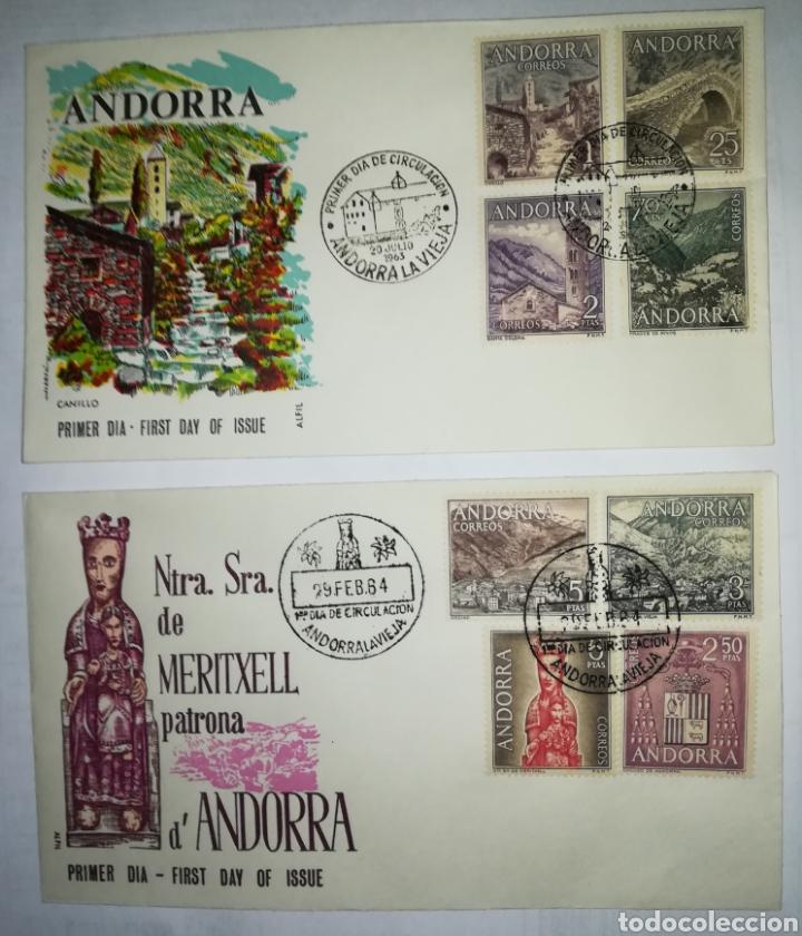 ANDORRA ESPAÑOLA 1963-64 EDIFIL 60-67 SOBRE PRIMER DIA SPD (Sellos - Extranjero - Europa - Andorra)