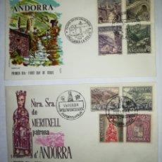 Sellos: ANDORRA ESPAÑOLA 1963-64 EDIFIL 60-67 SOBRE PRIMER DIA SPD. Lote 143114609