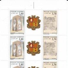 Sellos: ANDORRA FR ,-PLIEGO DE 10 SELLOS PRIMER ANIV. CONSTUTUCION 1994 NUM. 464. Lote 143058686