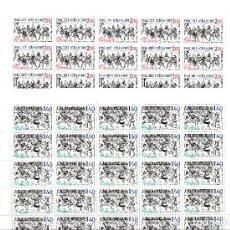 Sellos: ANDORRA FR ,-2 PLIEGOS DE 25 SELLOS EUROPA 1981 NUMS. 313-314. Lote 143059318