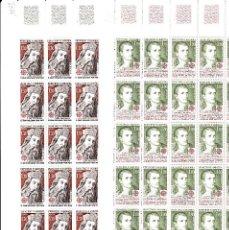 Sellos: ANDORRA FR ,-2 PLIEGOS DE 25 SELLOS EUROPA 1980 NUMS. 305-306. Lote 143059470