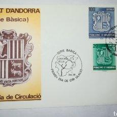 Sellos: ANDORRA ESPAÑOLA 1988 EDIFIL 209-212 BÁSICA ESCUDOS SOBRE PRIMER DIA SPD. Lote 143115997