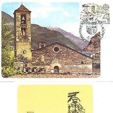 Sellos: TARJETA MAXIMA ANDORRA 83 EUROPA MOLINO AGUA EDIFIL 168/69 MAXIMUM CARD TC10606. Lote 143124469