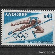 Sellos: ANDORRA FRANCESA 1968 JUEGOS OLOMPICOS MEXICO ** MNH - 1/35. Lote 143777642