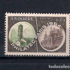Sellos: ANDORRA FRANCESA 1964 ** PHILATEC 1964 - 1/35. Lote 143777766