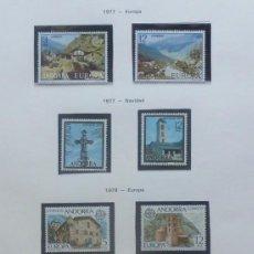 Sellos: ANDORRA 1977/78 FOTO 224- NUEVOS -SERIES COMPLETAS- 9 VALORES. Lote 143779686