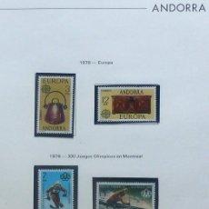 Sellos: ANDORRA- FOTO 225- 1976,NUEVO,COMPLETAS - 6 VALORES. Lote 143779738
