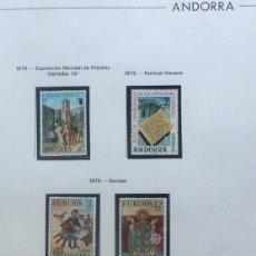 Sellos: ANDORRA 1975- FOTO 226 ,NUEVO,COMPLETAS-6 VALORES . Lote 143779818