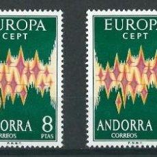 Sellos: SELLOS ANDORRA 1972 EDIFIL 72** EUROPA CEPT 4 VALORES. Lote 151118038