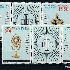 Sellos: SELLOS ANDORRE / ANDORRA FRANCESA 1997 PATRIMONIO CULTURAL YVERT 491/2A. Lote 152915490