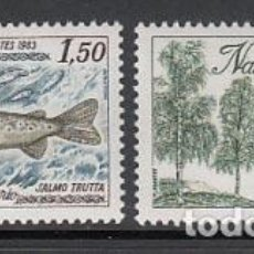 Sellos: ANDORRA FRANCESA CORREO 1983 YVERT 311/2 ** MNH FLORA Y FAUNA. Lote 153669938