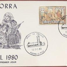 Sellos: SOBRE ANDORRA LA VELLA NAVIDAD 1980. Lote 153850757