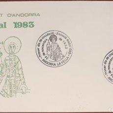 Sellos: SOBRE ANDORRA LA VELLA NAVIDAD 1983. Lote 153851268