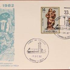 Sellos: SOBRE ANDORRA LA VELLA NAVIDAD 1982. Lote 153851670
