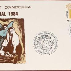 Sellos: SOBRE ANDORRA LA VELLA NAVIDAD 1984. Lote 153852088