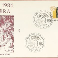 Sellos: SOBRE ANDORRA LA VELLA NAVIDAD 1984. Lote 153852702