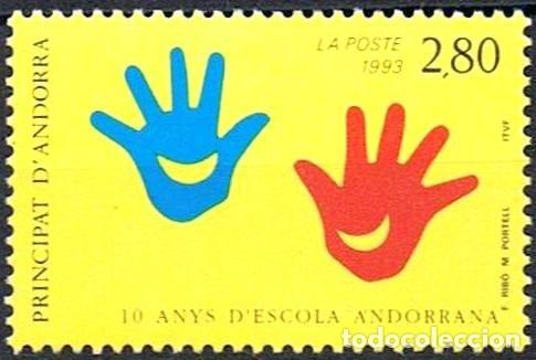 SELLO NUEVO DE ANDORRA FRANCESA, YT 438 (Sellos - Extranjero - Europa - Andorra)