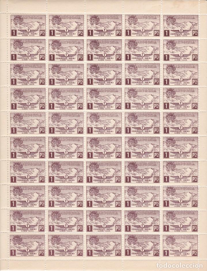 HOJA COMPLETA DE 50 SELLOS DE ANDORRA DEL AÑO 1932 NE16 EN PERFECTO ESTADO DE CONSERVACION (Sellos - Extranjero - Europa - Andorra)