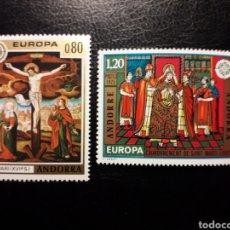Sellos: ANDORRA FRANCESA. YVERT 243/4 SERIE COMPLETA NUEVA SIN CHARNELA. EUROPA CEPT. PINTURAS RELIGIOSAS. Lote 168240412