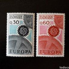 Sellos: ANDORRA FRANCESA. YVERT 179/80 SERIE COMPLETA NUEVA SIN CHARNELA. EUROPA CEPT.. Lote 168293604