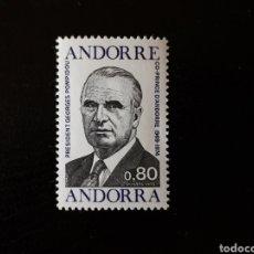 Francobolli: ANDORRA FRANCESA. YVERT 249 SERIE COMPLETA NUEVA SIN CHARNELA. PRESIDENTE FRANCIA. GEORGE POMPIDOU.. Lote 168298109